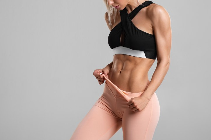 Girl showing her abs